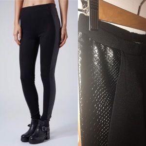 TOPSHOP faux leather side panel leggings